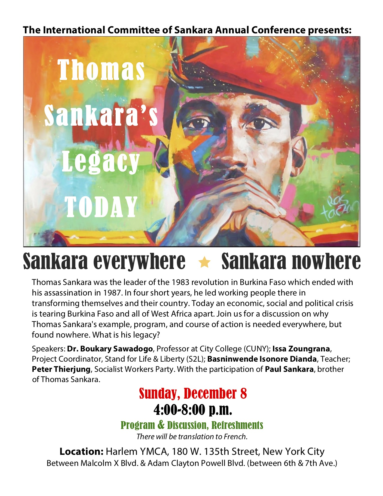 Discussion about the legacy of Thomas Sankara