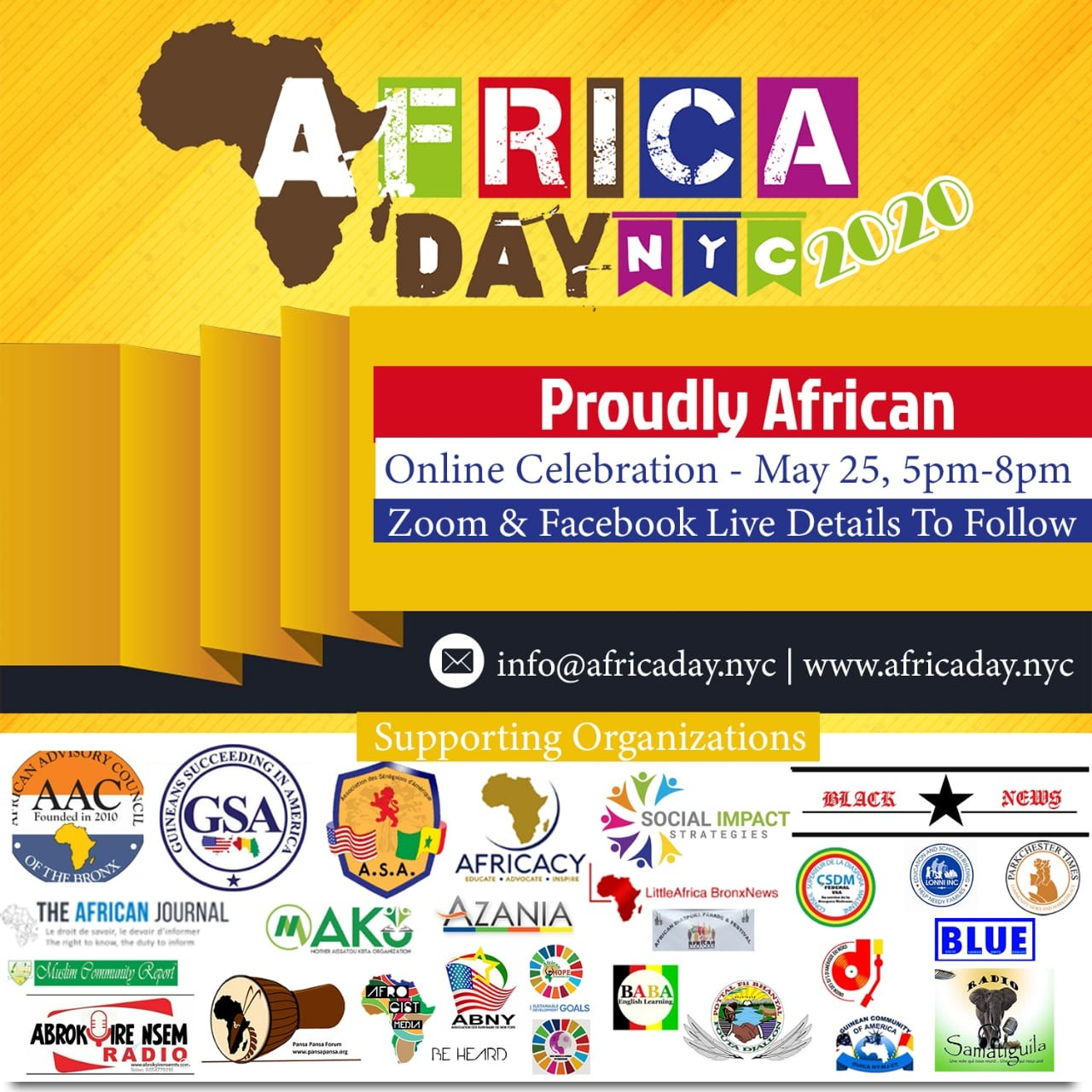 AFRICANS IN NEW YORK CITY UNITE TO COMMEMORATE AFRICA DAY WITH VIRTUAL CELEBRATION