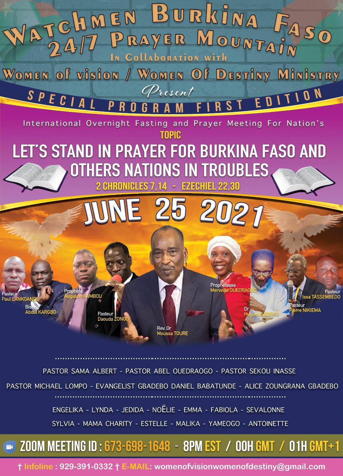 New York: 8 heures de prière sans interruption en faveur d'un Burkina Faso meurtri