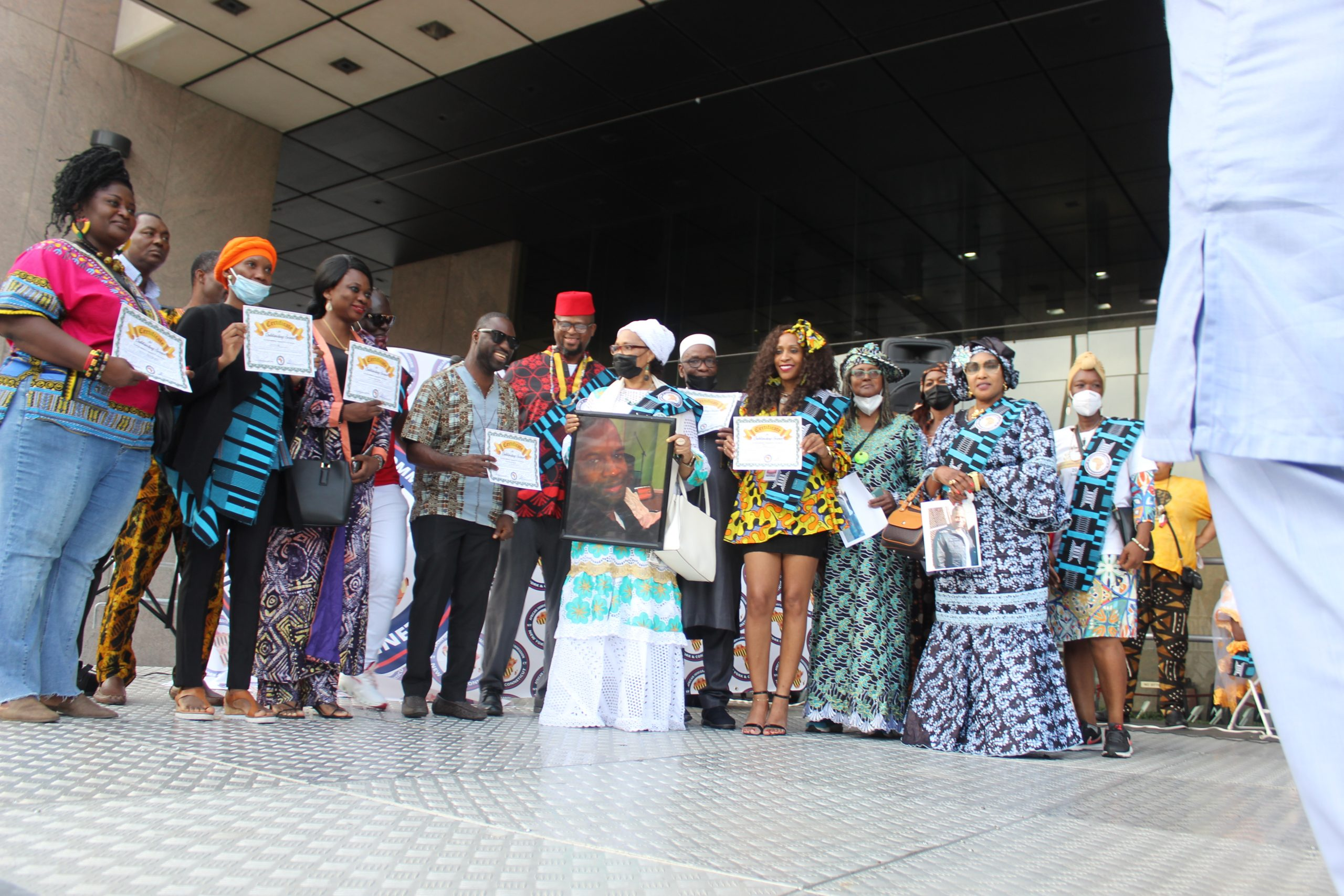 African heritage month parade and festival: The African Immigrants' Commission of New York, and Connecticut honored 70 people