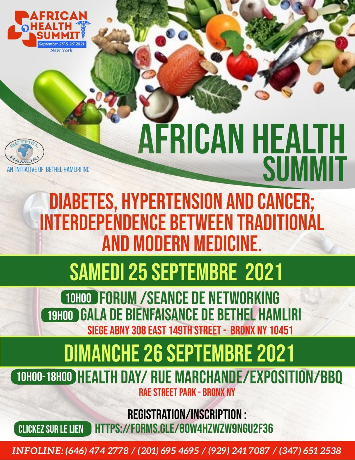 "The Nonprofit organization Bethel Hamliri is organizing ""African Health Summit"""
